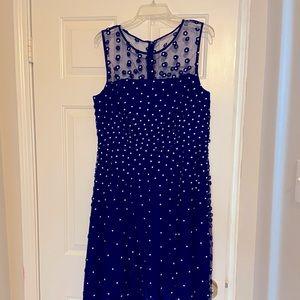 *URGENT SALE* TAHARI Navy Blue Flower Dress